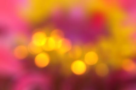 de focus: Abstract colorful bokeh background by de focus flower