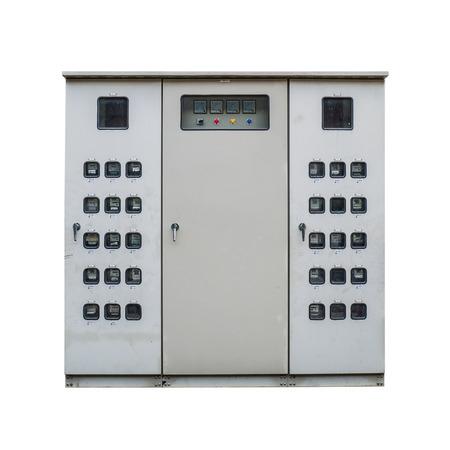 electric meter: Armario eléctrico metro en el fondo blanco