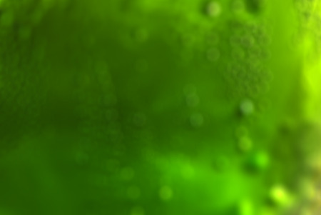 Abstract  green background by defocus of drink in bottle