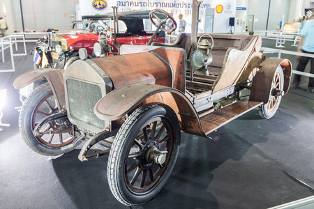 oncept: NONTABURI, THAILAND - 2 DEC :Wolselry Siddeley a vintage car, showed in 31th Thailand International Motor Expo on 2 December 2014