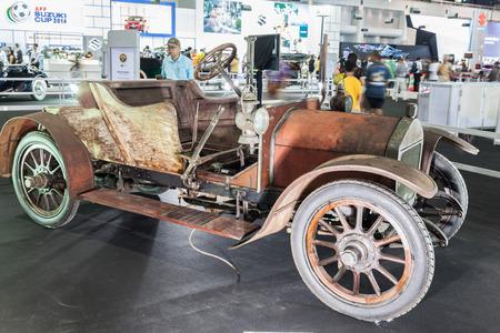 nontaburi: NONTABURI, THAILAND - 2 DEC :Wolselry Siddeley a vintage car, showed in 31th Thailand International Motor Expo on 2 December 2014