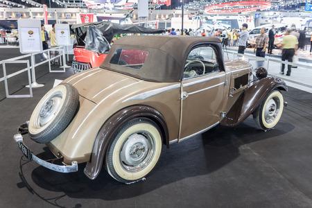 oncept: NONTABURI, THAILAND - 2 DEC :Fiva DKW F5 a vintage car, showed in 31th Thailand International Motor Expo on 2 December 2014