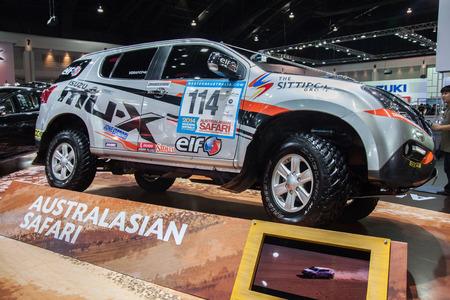 nontaburi: NONTABURI, THAILAND - 2 DEC : Isuzu Mu-X ondisplay, showed in 31th Thailand International Motor Expo on 2 December 2014
