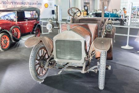 showed: NONTABURI, THAILAND - 2 DEC :Wolselry Siddeley a vintage car, showed in 31th Thailand International Motor Expo on 2 December 2014