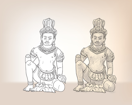 architect: Drawing of Vishvakaman ,the divine architect