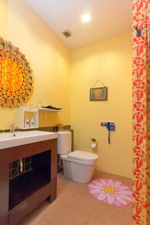 modern bathroom: Modern style of bathroom Stock Photo