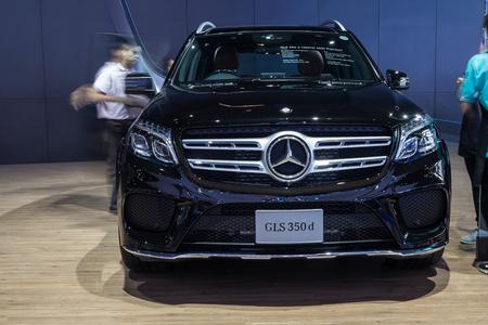 showed: NONTABURI, THAILAND - 23 MAR : Mercedes-Benz GLS 350d showed in Thailand the 37th Bangkok International Motor Show on 34 March 2016 Editorial