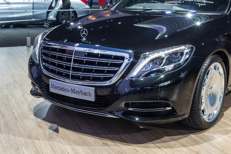 NONTABURI, THAILAND - 23 MAR : Mercedes Benz-Maybach S500 showed in Thailand the 37th Bangkok International Motor Show on 23 March 2016