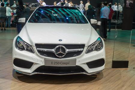 nontaburi: NONTABURI, THAILAND - 23 MAR : Mercedes-Benz E 250 Coupe showed in Thailand the 37th Bangkok International Motor Show on 23 March 2016 Editorial
