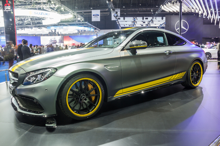 exposition: NONTABURI, THAILAND - 23 MAR : Mercedes-Benz C 63s showed in Thailand the 37th Bangkok International Motor Show on 23 March 2016