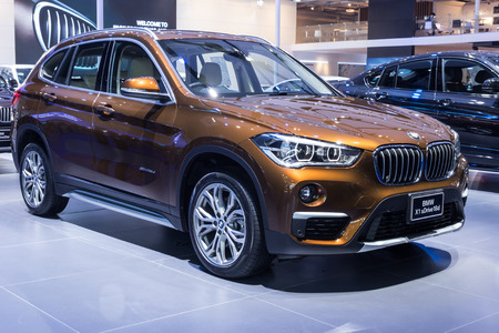 showed: NONTABURI, THAILAND - 23 MAR : BMW X1 sDrive18D showed in Thailand the 37th Bangkok International Motor Show on 23 March 2016