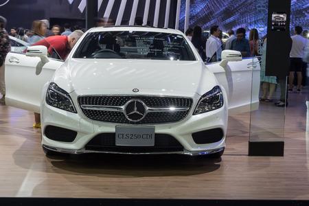 nontaburi: NONTABURI, THAILAND - 23 MAR : Mercedes-Benz CLS250 CDI showed in Thailand the 37th Bangkok International Motor Show on 23 March 2016 Editorial