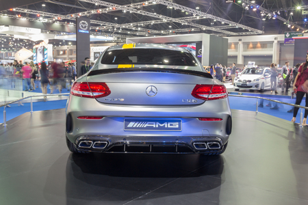 showed: NONTABURI, THAILAND - 23 MAR : Mercedes-Benz C 63s showed in Thailand the 37th Bangkok International Motor Show on 23 March 2016