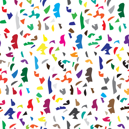scatter: Abstract artistic seamless pattern of color scatter pieces background Illustration