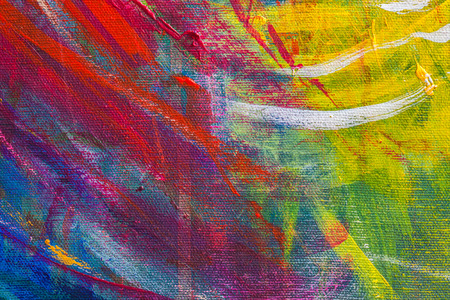 Close up texture and color of acrylic painted on canvas