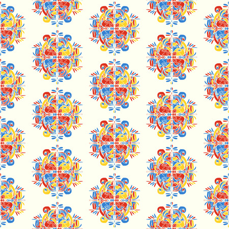 Abstract artistic seamless pattern on white background