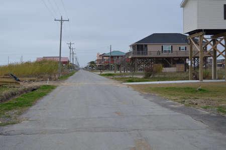 Holly Beach, La - Main Street (still rebuilding after Hurricane Rita)