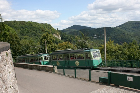 Königswinter, Germany - Jul 30, 2009 - The old restored cog railway Editorial