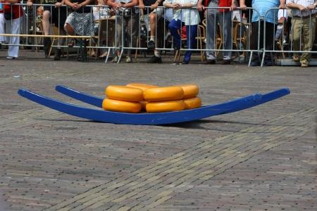 Alkmaar, Netherlands  July 27th 2012: The weekly cheese market. Editorial
