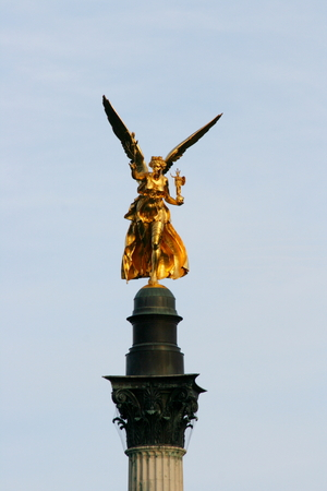 vue: The Angel of Peace is a monument in Munich