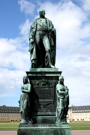 karlsruhe: The monument to Karl Friedrich of Baden in Karlsruhe