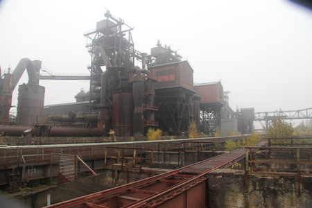 ruhr: Old Steel Mill, to Industrial monument in the Ruhr area Stock Photo