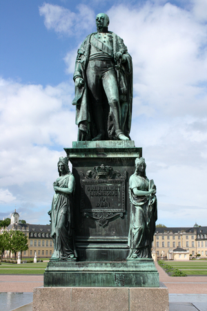 karl: The monument to Karl Friedrich of Baden in Karlsruhe