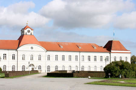Partial view of Nymphenburg Palace in Munich, Bavaria, Germany