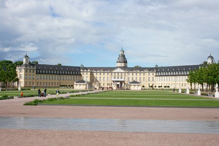 The Karlsruhe Palace seen from the Townside