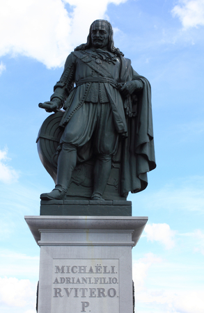 De Ruyter-Monument at the port of Vlissingen Netherlands Editorial