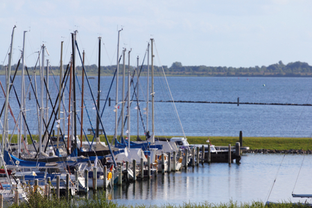 The harbor for sailing boats in the city of Herkingen, Netherlands