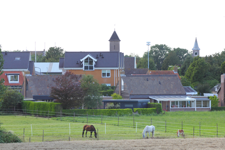 Partial view of Herkingen, a small village in the Netherlands