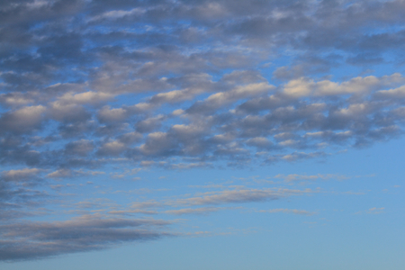 Big fluffy clouds (altocumulus) with beautiful blue skies