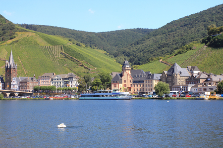 Bernkastel-Kues, Germany August 17, 2016: View from the waterside