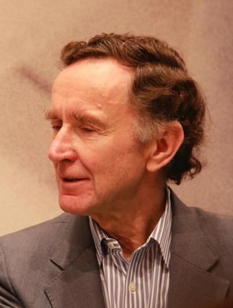 Frankfurt, Duitsland 14 oktober, 2017: Stephen K. Green, Baron Green van Hurstpierpoint, bij de boekenbeurs in Frankfurt