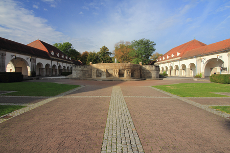 Bad Nauheim, Germany October 14, 2016: Bad Nauheim is a town in the Wetteraukreis district of Hesse state of Germany