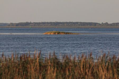 The island of Bock lies in the Baltic Sea southwest of the island of Hiddensee and east of the peninsula of ZingstBock ist eine unbewohnte Insel in der Ostsee in Vorpommern zwischen der Halbinsel Zingst und der Insel Hiddensee Stock fotó