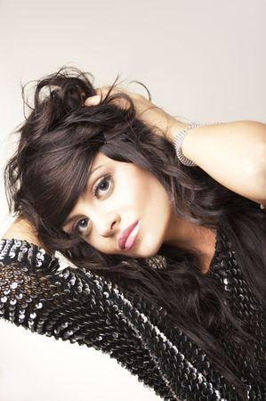 portrait of beautiful brunette Stock Photo - 2005175