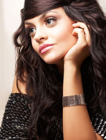 portrait of beautiful brunette Stock Photo - 2005160