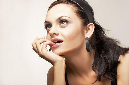 portrait of beautiful brunette Stock Photo - 2005143