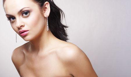 portrait of beautiful brunette Stock Photo - 2005120