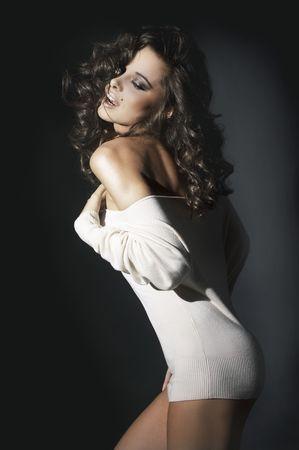 morena sexy: bella y morena chica sexy Foto de archivo