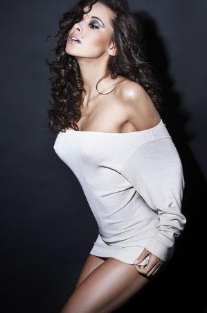 beautiful and sexy brunette girl Stock Photo - 3860799