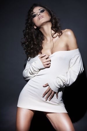 beautiful and sexy brunette girl