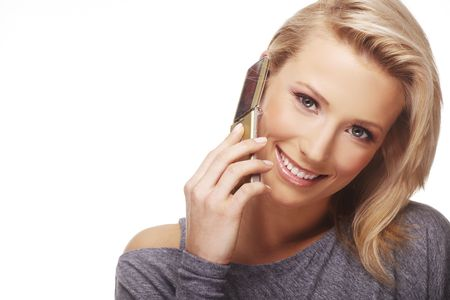 Portrait of beautiful business woman using mobile phone Stock Photo - 5967920