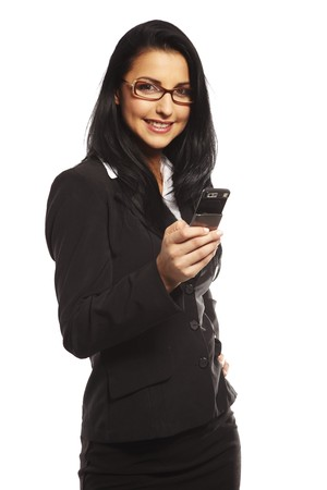 beautiful young woman calling by mobile phone Stock Photo - 7347375