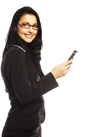 beautiful young woman calling by mobile phone Stock Photo - 7347391