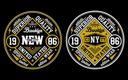 Design New York City, Poster, Emblem, Vector.
