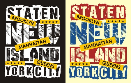 Staten Islan New York, Vektor. t shirt graphic