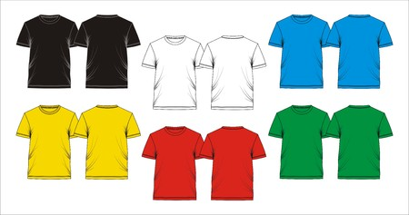 Template T shirt blank, Vector